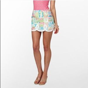 Lilly Pulitzer State of Mind Patchwork Tate Skirt